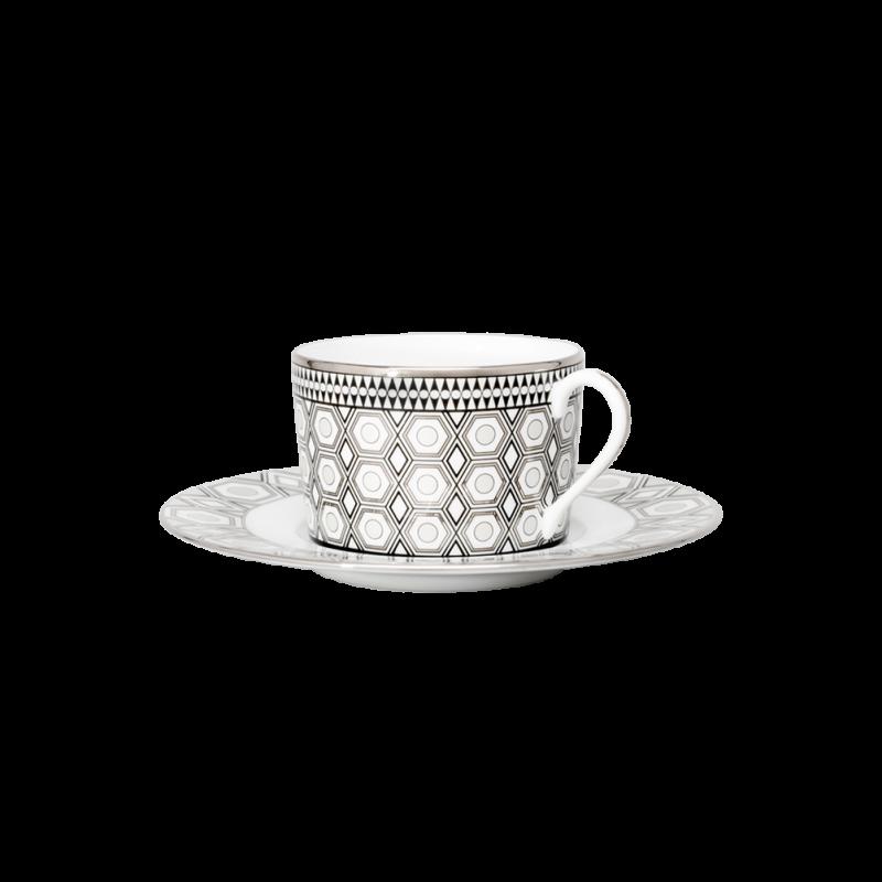 Hollywood Tea Cup and Saucer Platinum