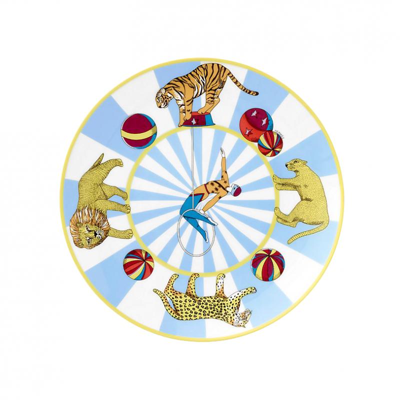 Assiette à Dessert Bleue Hermès Circus