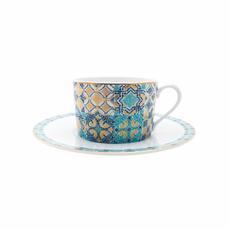 Portofino Tea Cup and Saucer