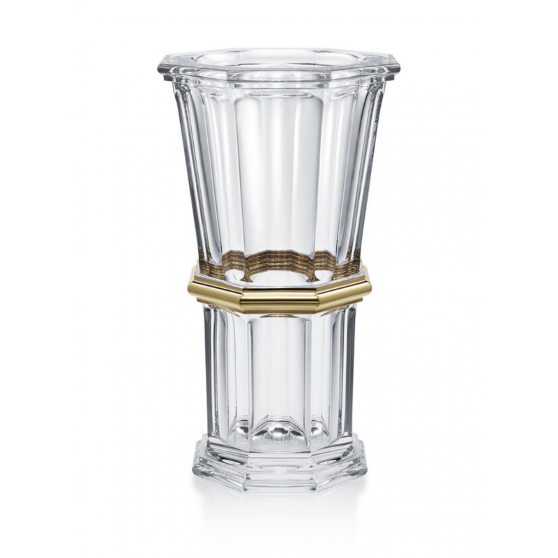 Harcourt 1841 Vase Clear and Gold