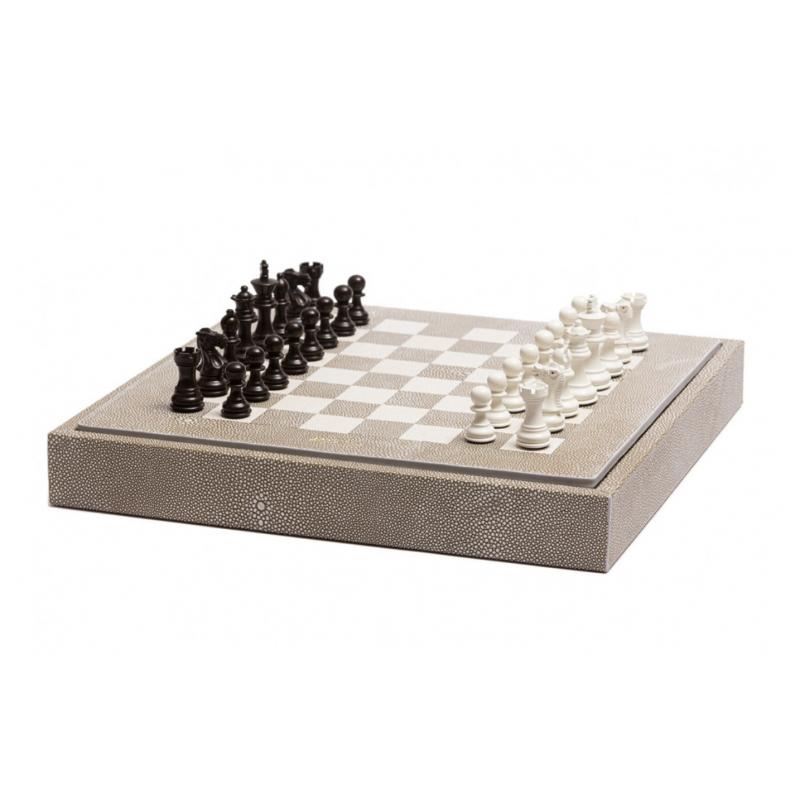 Galuchat Chess Box Taupe