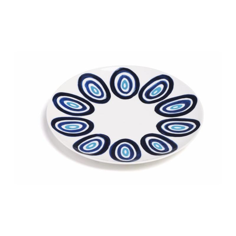 Kyklos Assiette à Dessert Bleu