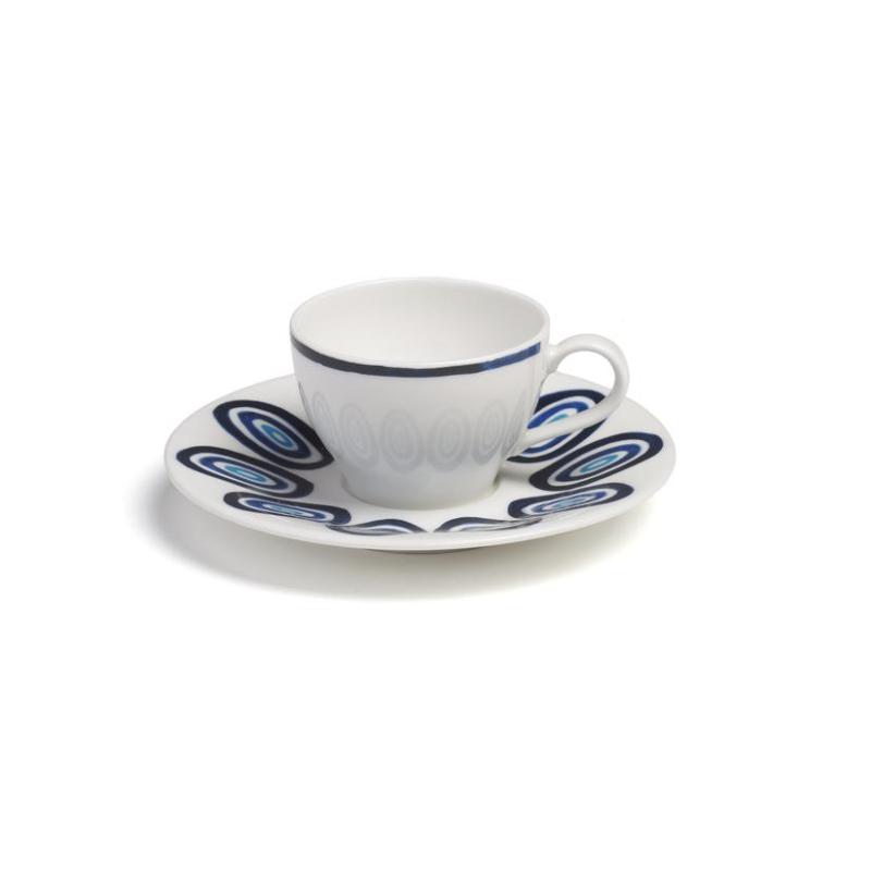 Kyklos Espresso Cup with Saucer Blue