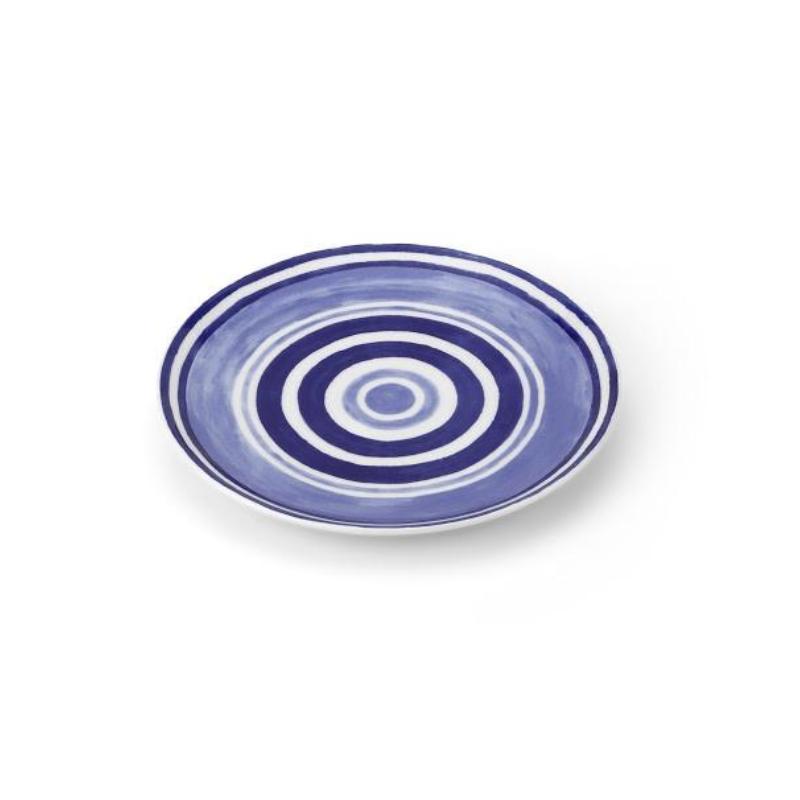 Maze Dessert Plate Blue