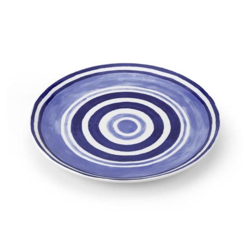 Maze Dinner Plate Blue