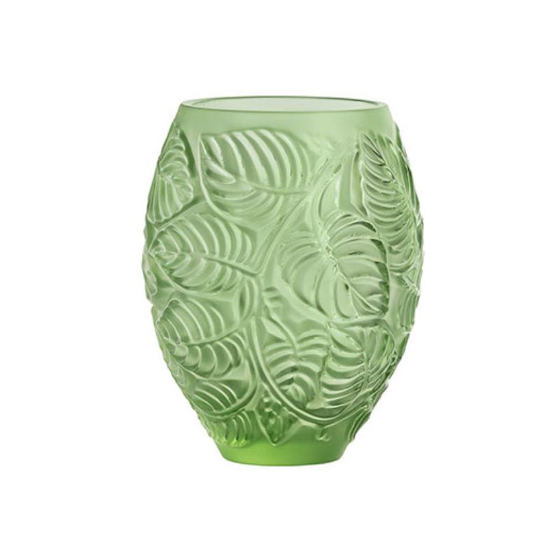 Feuilles Vase Green