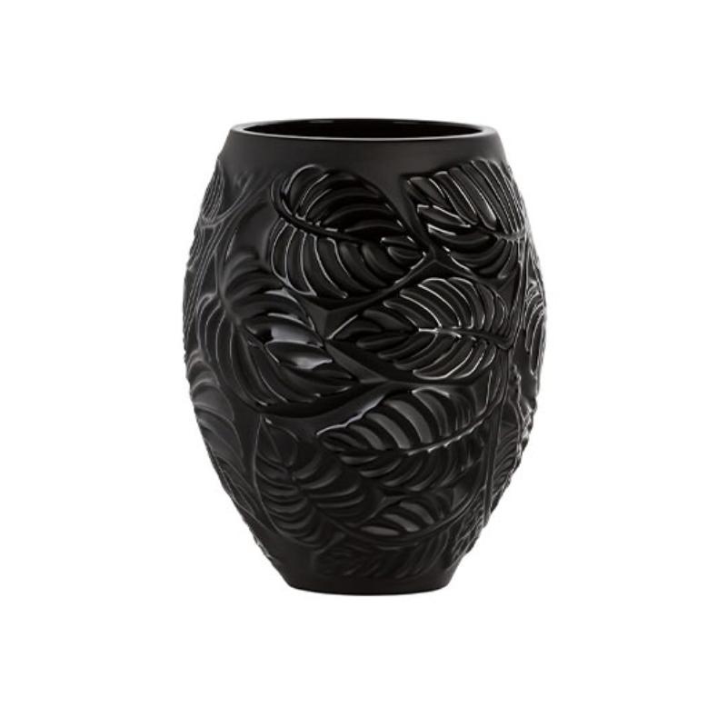 Feuilles Vase Noir