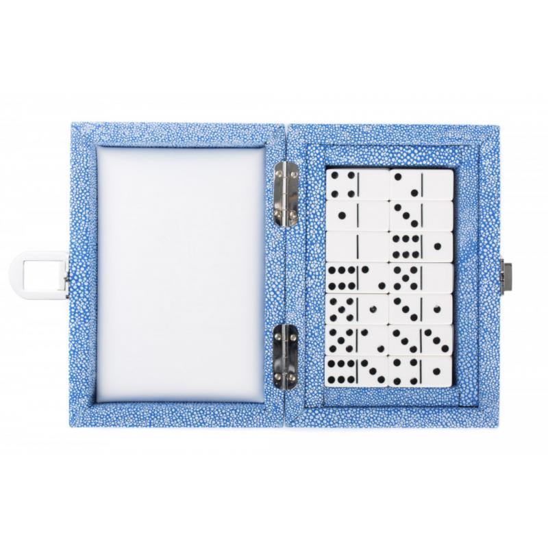 Coffret Dominos Galuchat Bleu