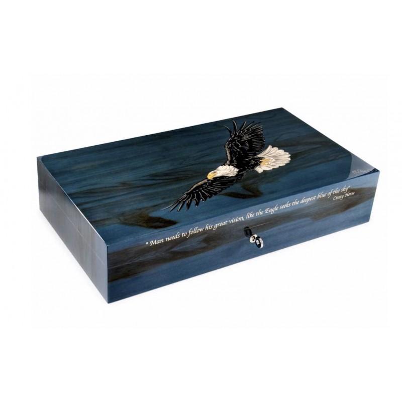 110 Cigar Eagle Red Gum Blue Shade (Ltd 200) Box