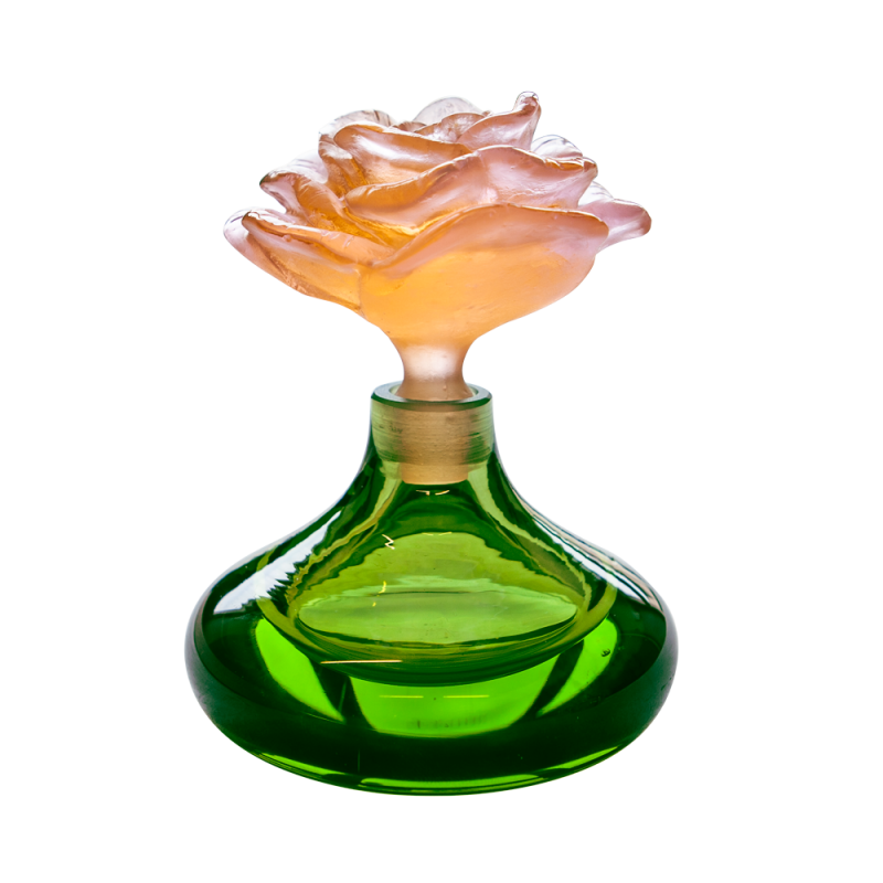 Rose Romance Perfume Bottle Small Green