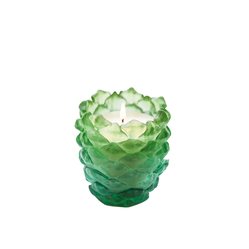 Pine Scented Candle Holder Green