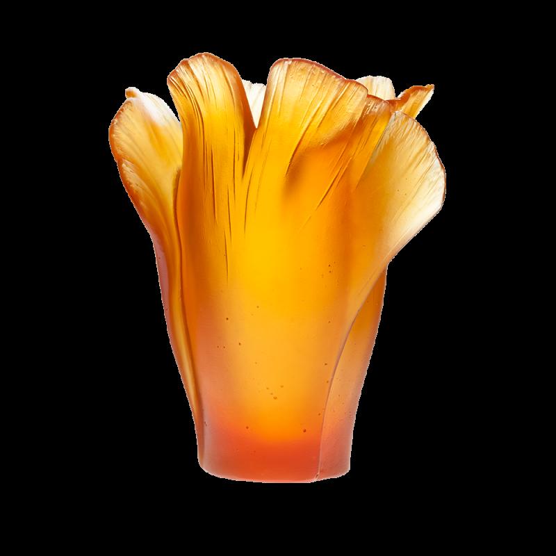 Ginkgo Amber Vase
