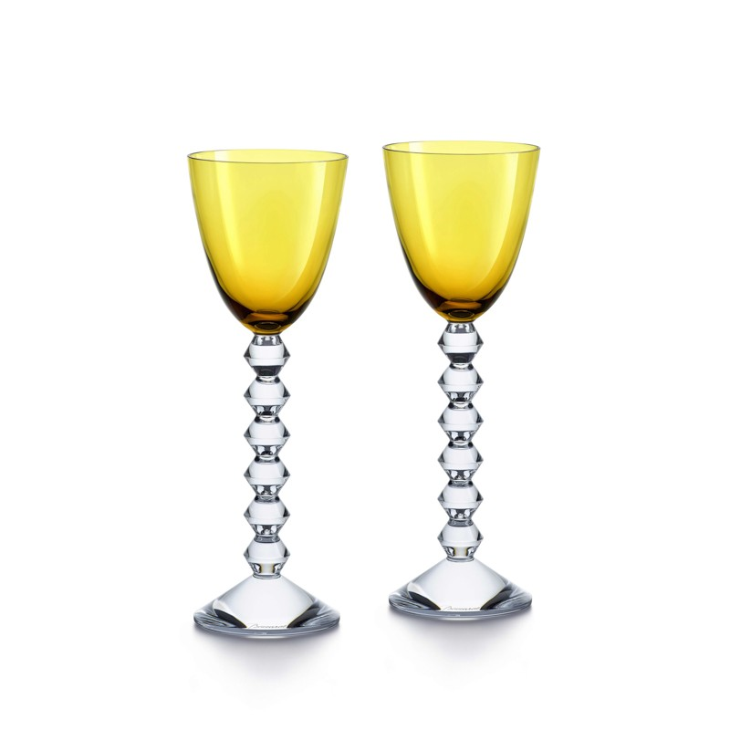 Set of 2 Véga Wine Rhine Glasses Amber