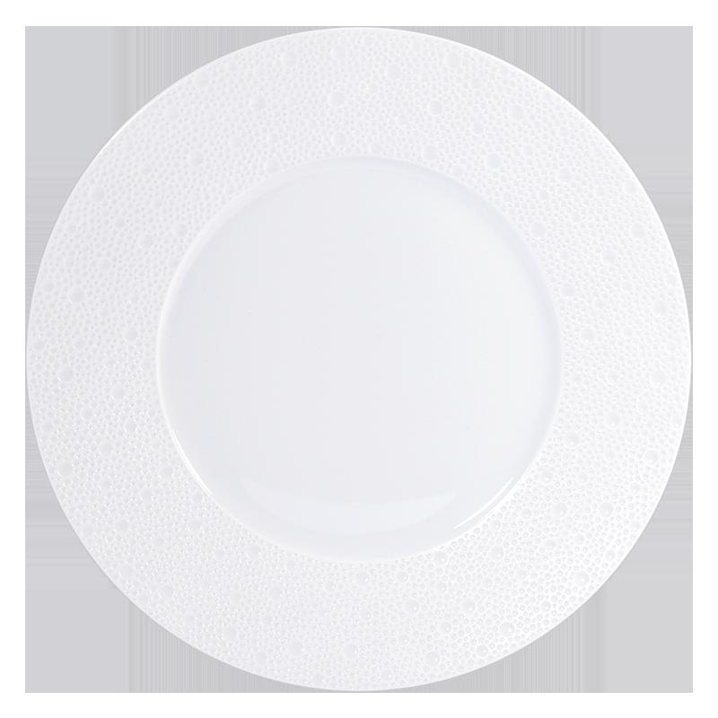 Assiette à Diner Ecume Blanc
