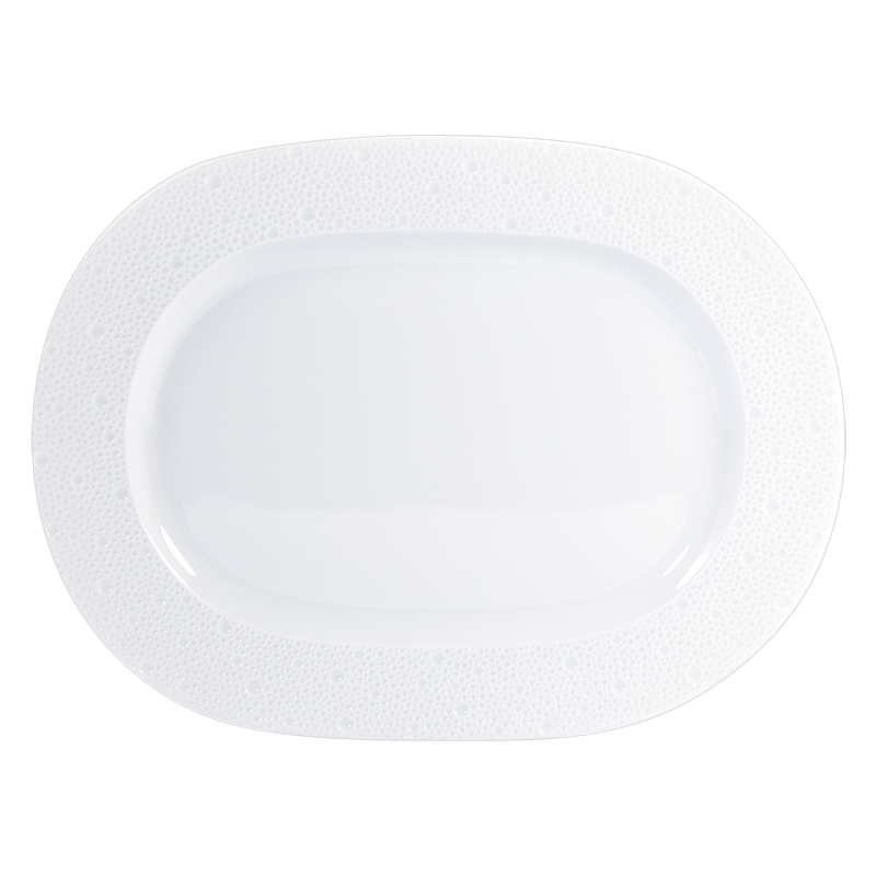 Ecume Blanc Oval Platter