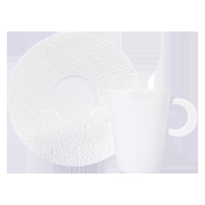 Ecume Blanc Coffee Cup & Saucer
