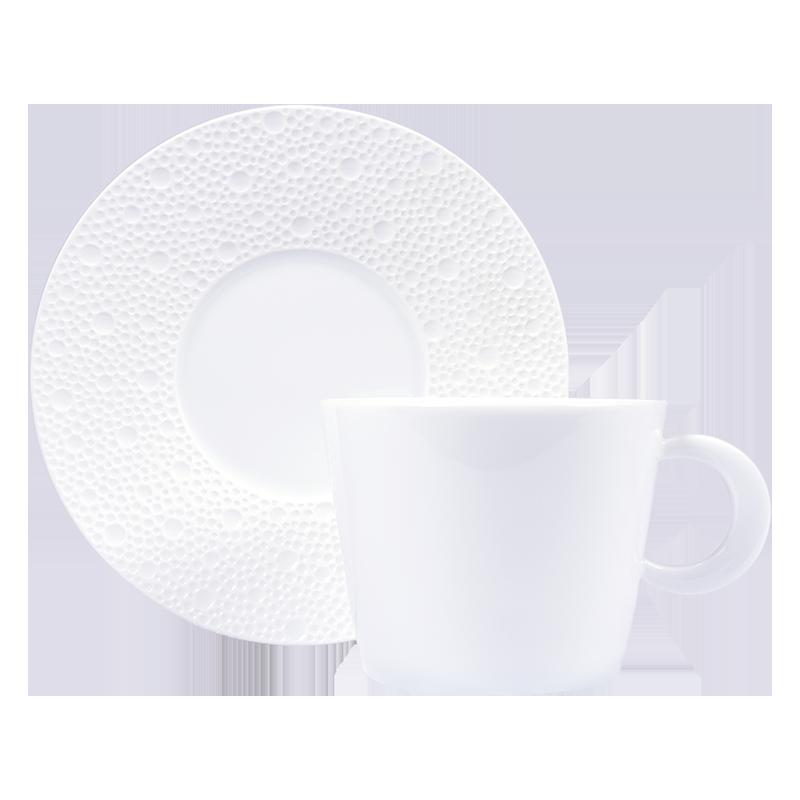 Ecume Blanc Tea Cup & Saucer