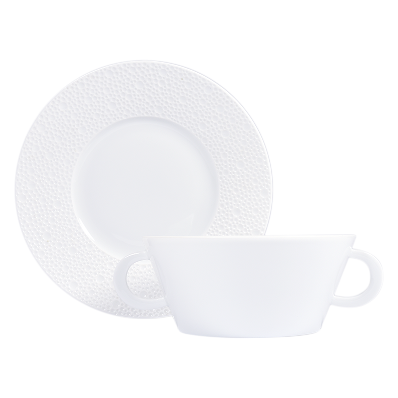 Ecume Blanc Cream Cup and Saucer