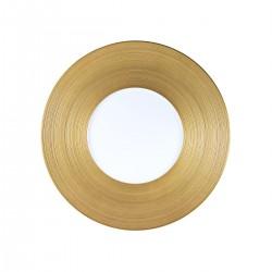 Hemisphere Gold Dinner Plate