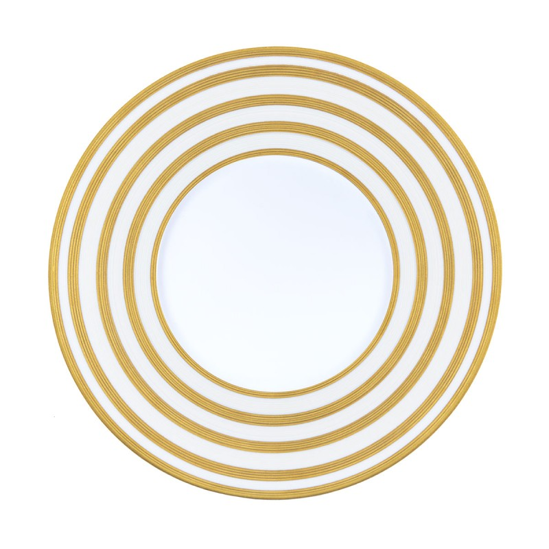 Hemisphere Gold Stripes Charger plate
