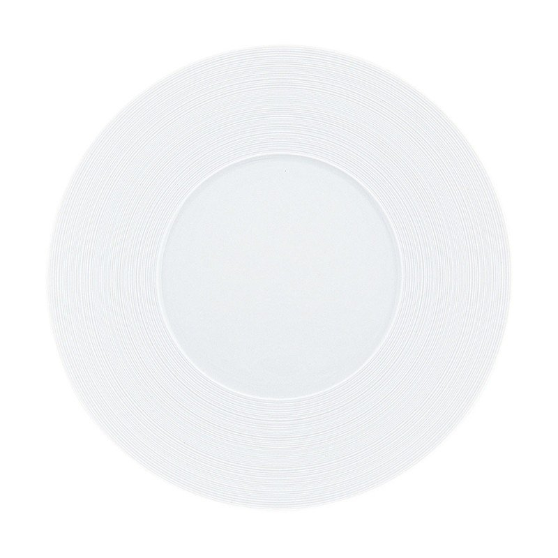 Hemisphere White Satin Charger Plate