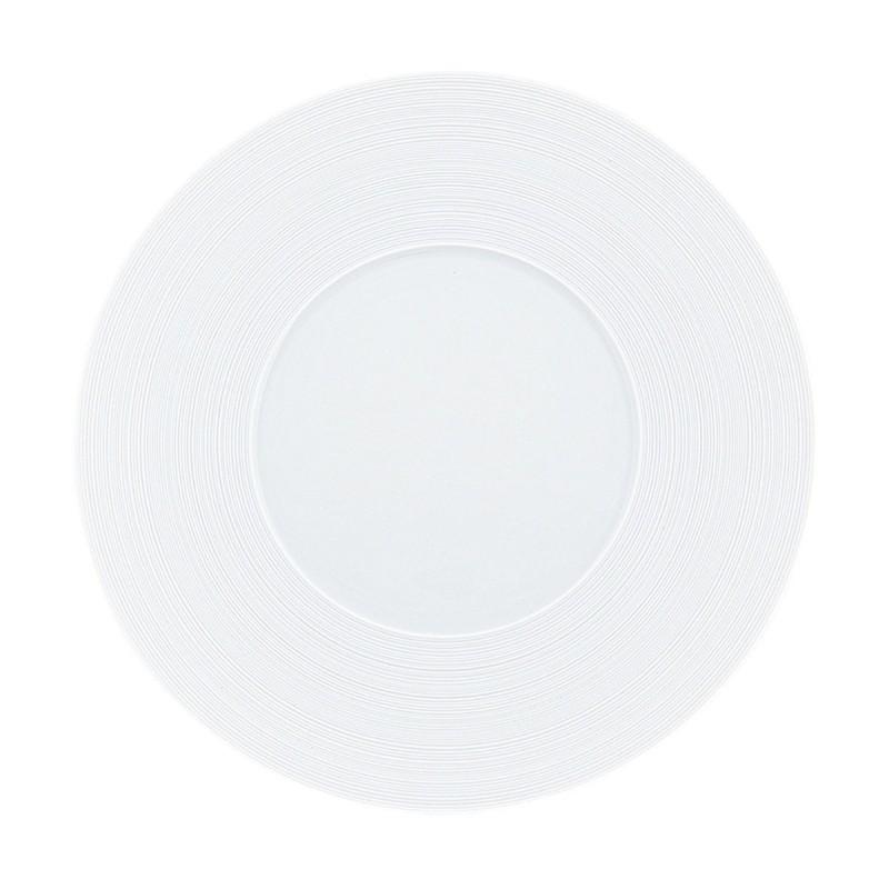 Hemisphere White Satin Charger Plate
