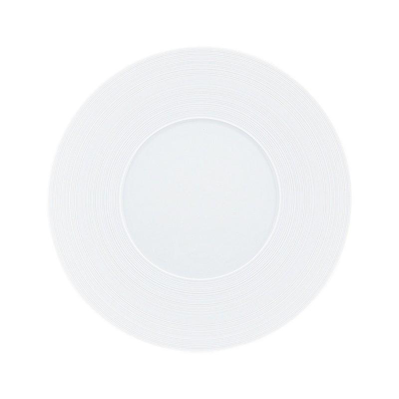 Hemisphere White Satin Plate 29 cm