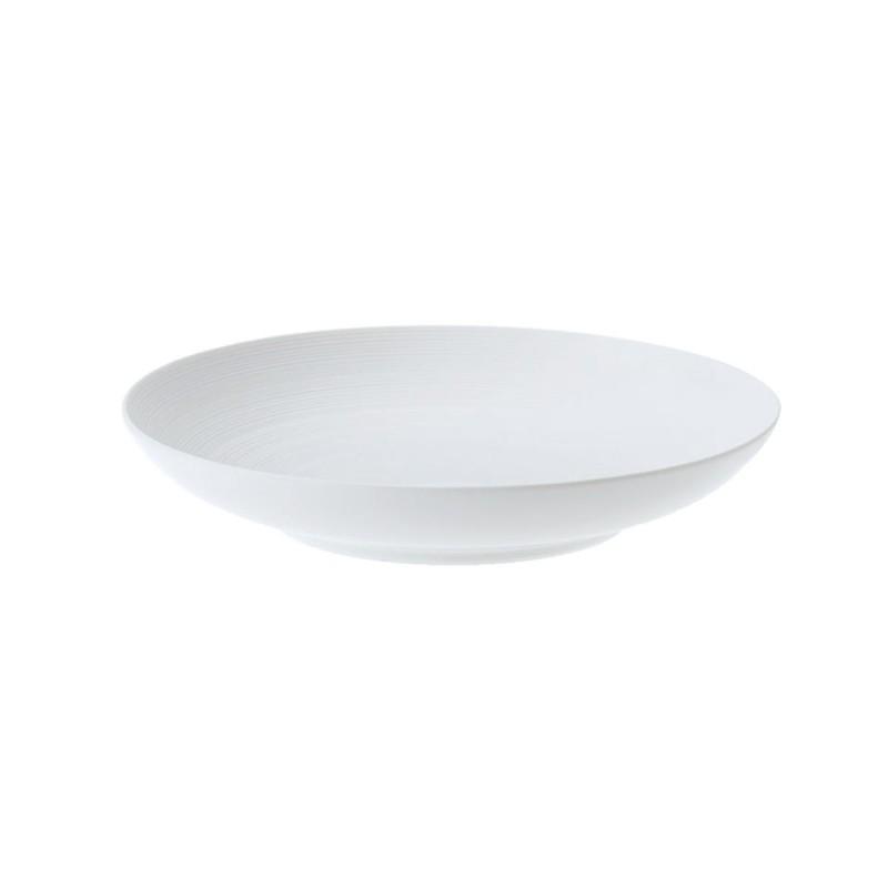 Hemisphere White Satin Pasta Plate