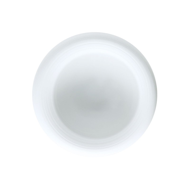 Hemisphere White Satin Bubble Soup Plate