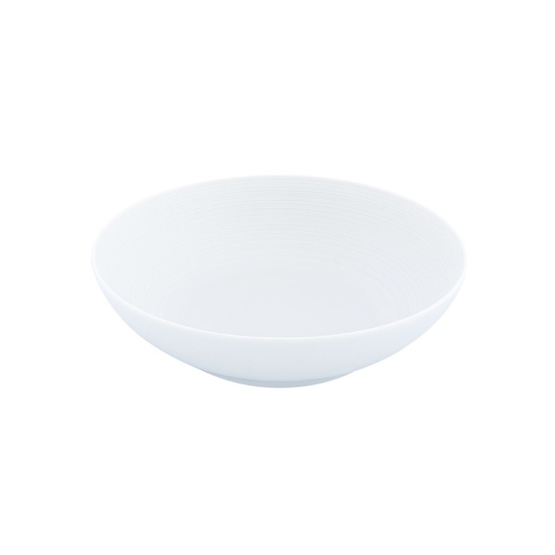 Hemisphere White Satin Salad Bowl Large
