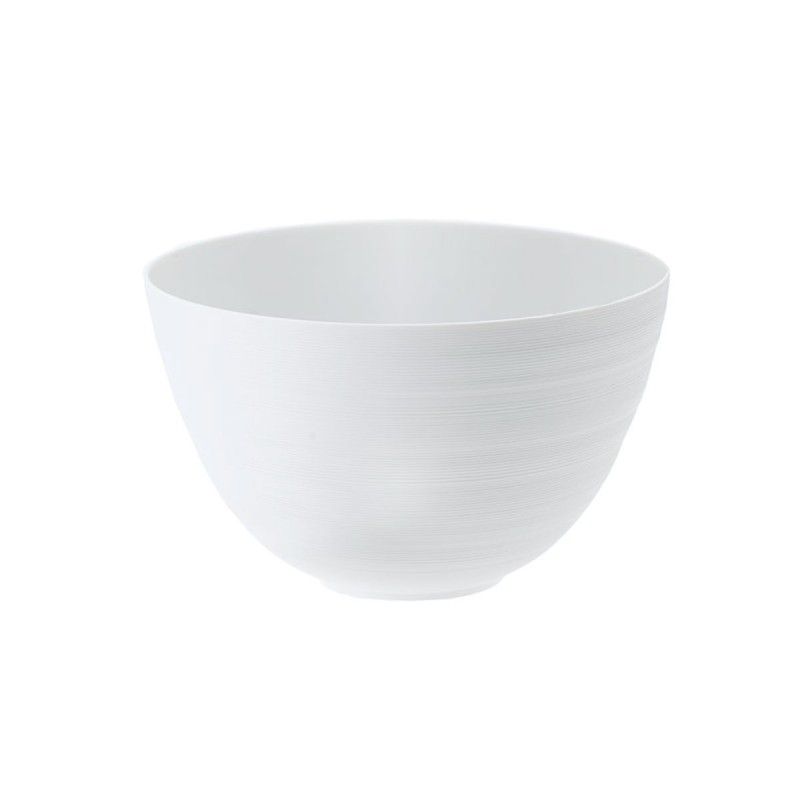 Hemisphere White Satin Salad Serving Bowl XL