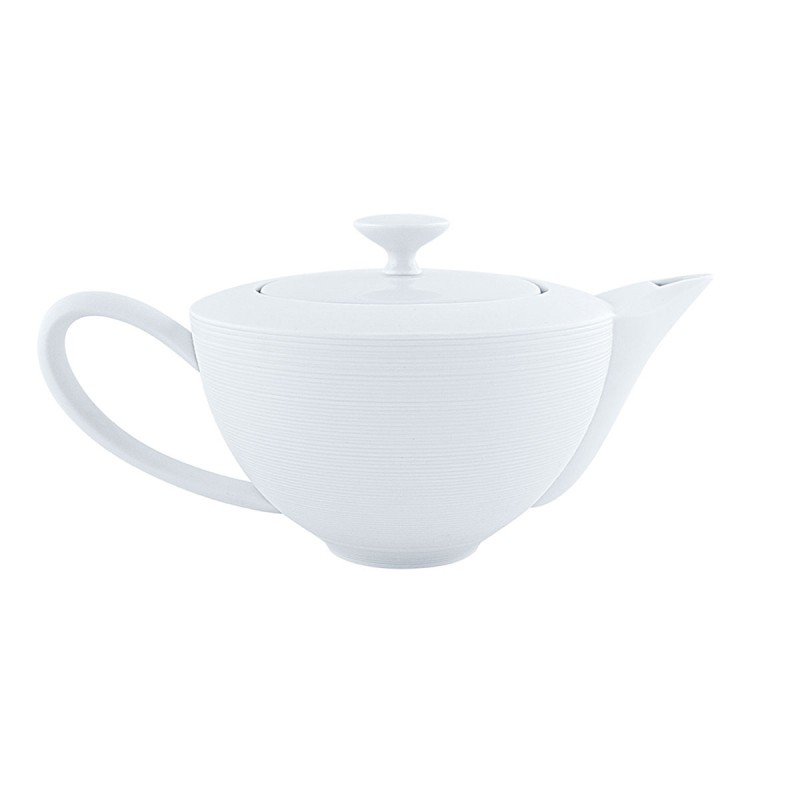 Hémisphère White Satin Tea Pot Large