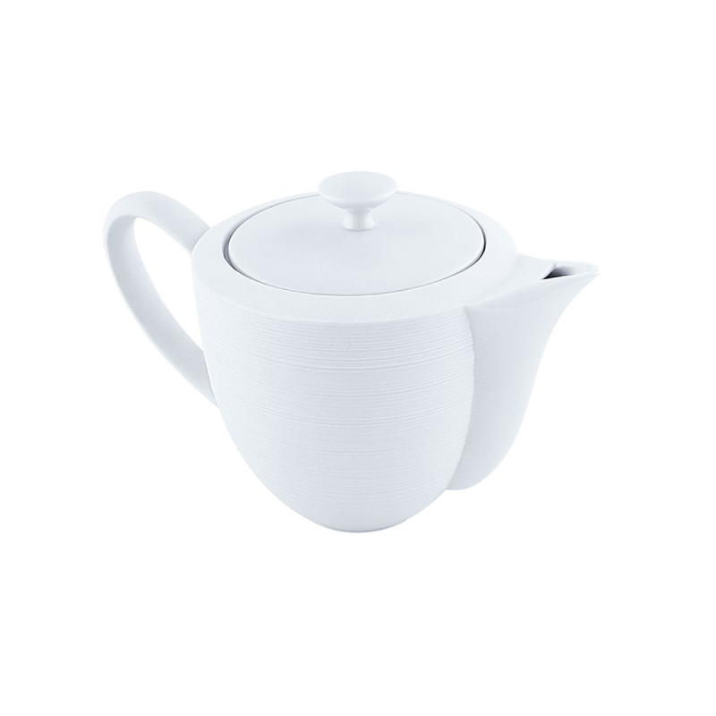 Hemisphere White Satin Coffee Pot Large