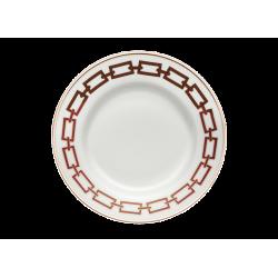 Catene Red Dessert Plate -...