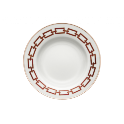 Catene Red Soup Plate