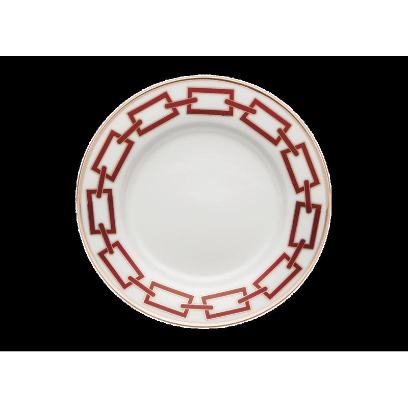Catene Red Bread Plate
