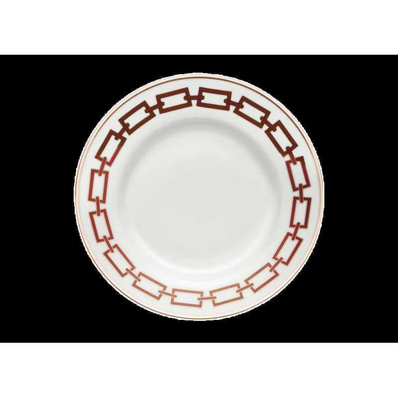 Catene Red Round Flat Platter