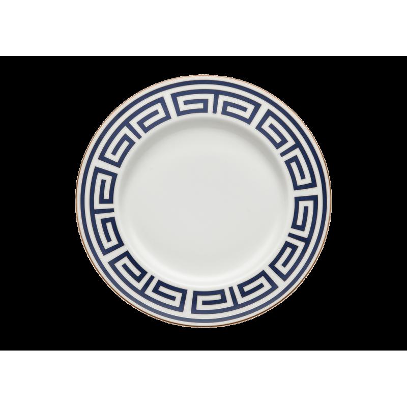 Labirinto Navy Round Flat Platter