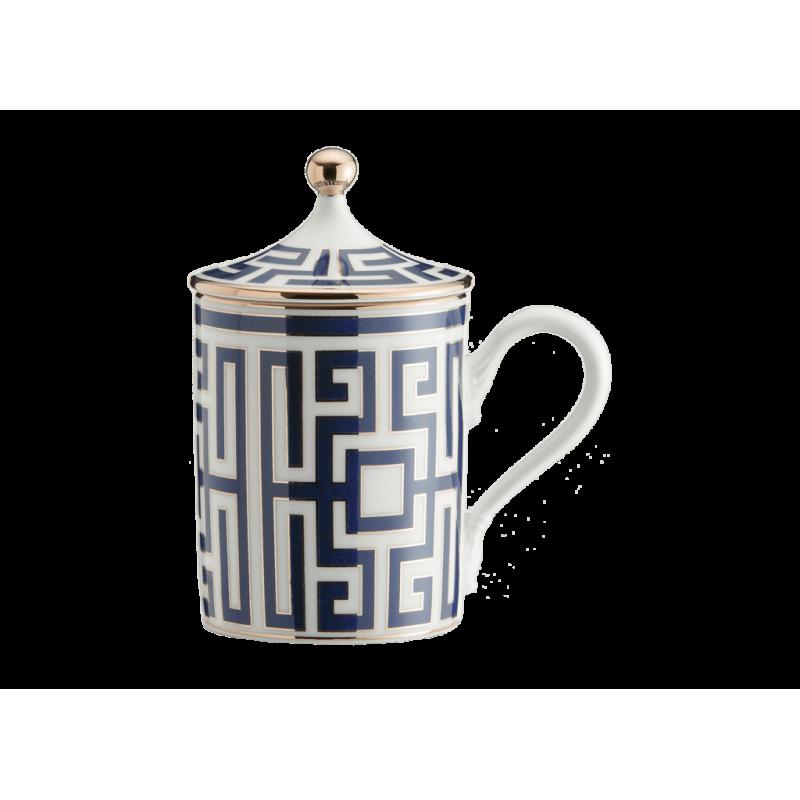Labirinto Navy Mug with Cover