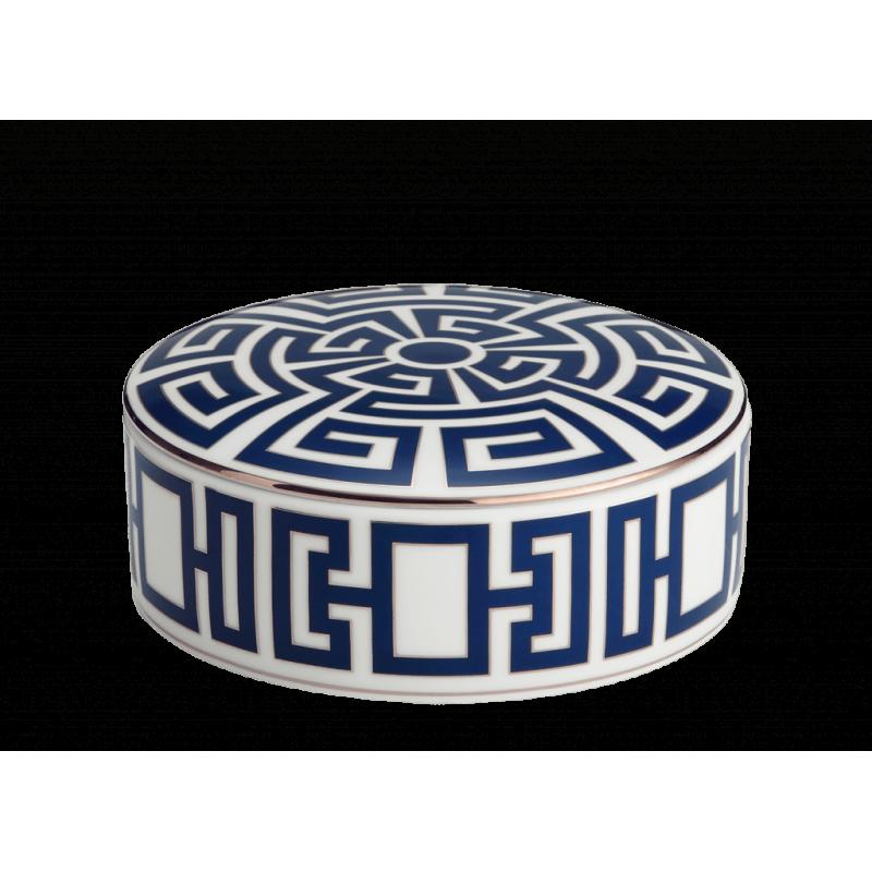 Labirinto Navy Round Box