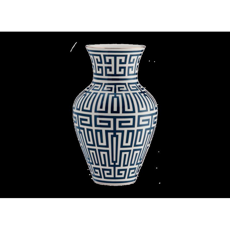 Labirinto Navy blue Vase