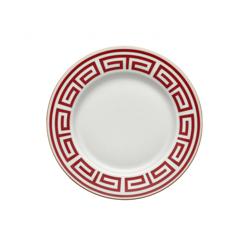 Labirinto Red Round Flat Platter