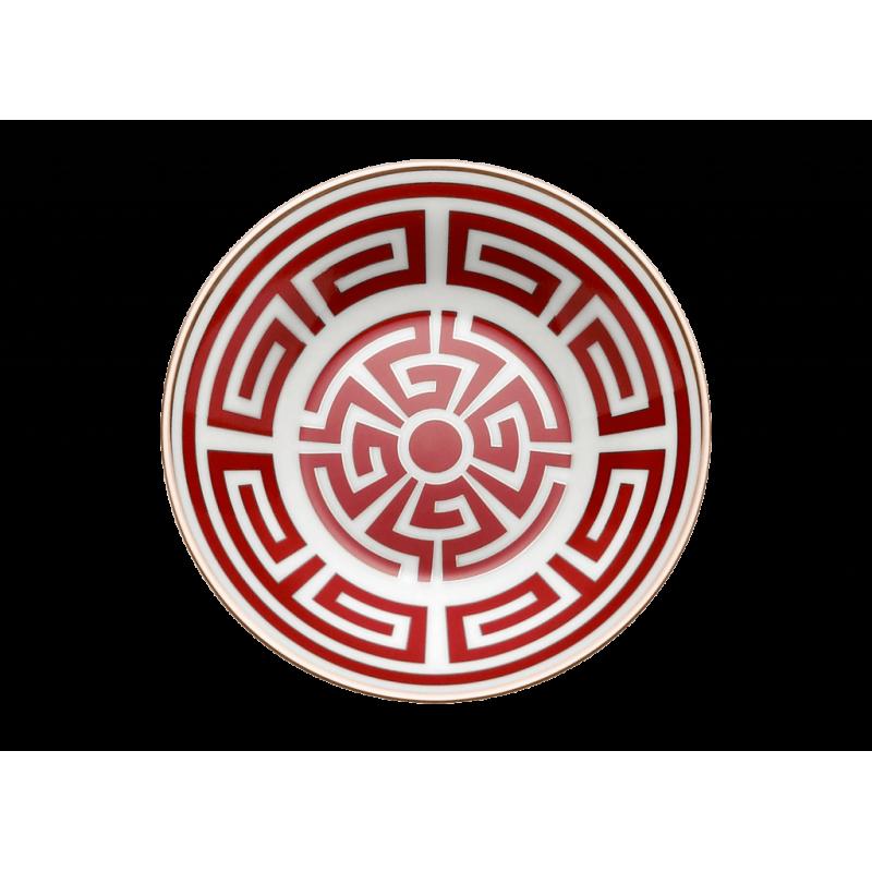 Labirinto Red Coffee Saucer - Set of 2
