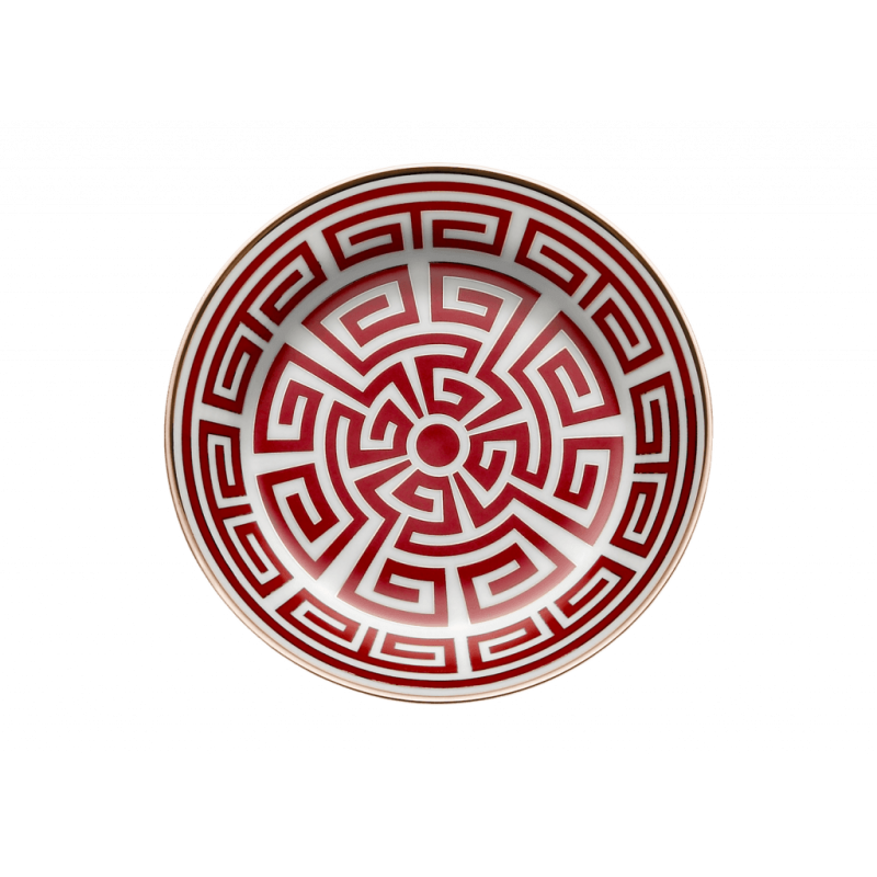 Labirinto Red Tea Saucer - Set of 2