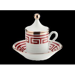 Labirinto Red Coffee Set