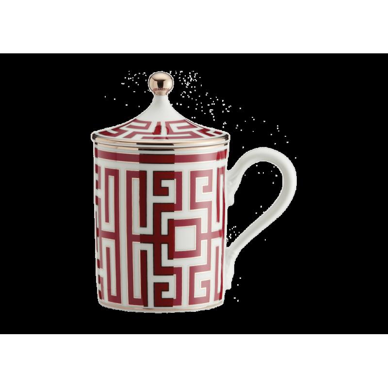 Labirinto Red Mug with Cover