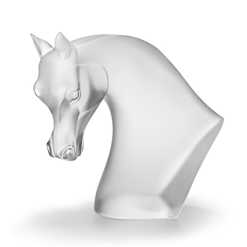 Horse's Head Sculpture Satin Clear