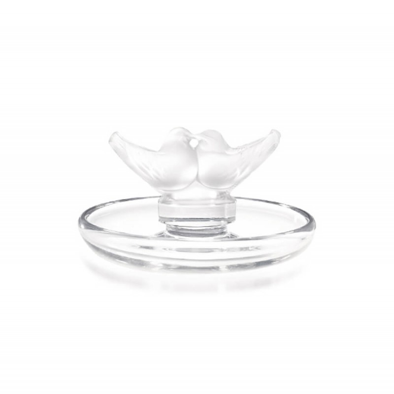 2 Lovebirds Small Bowl Clear