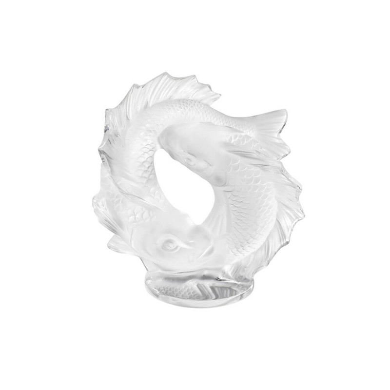 Double Fish Small Sculpture Clear