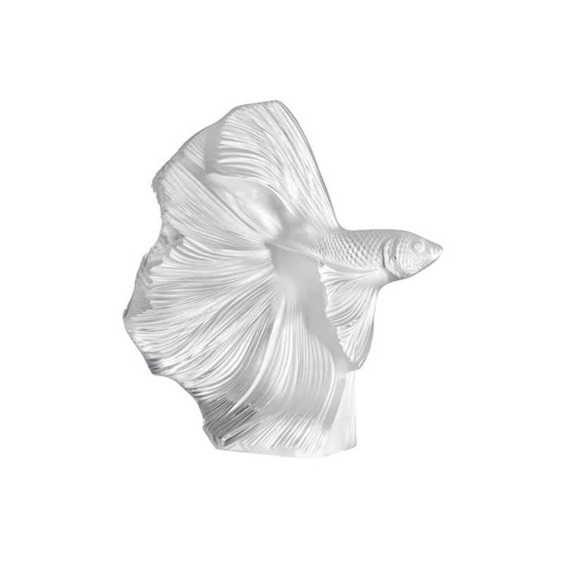 Fighting Fish Small Sculpture Clear